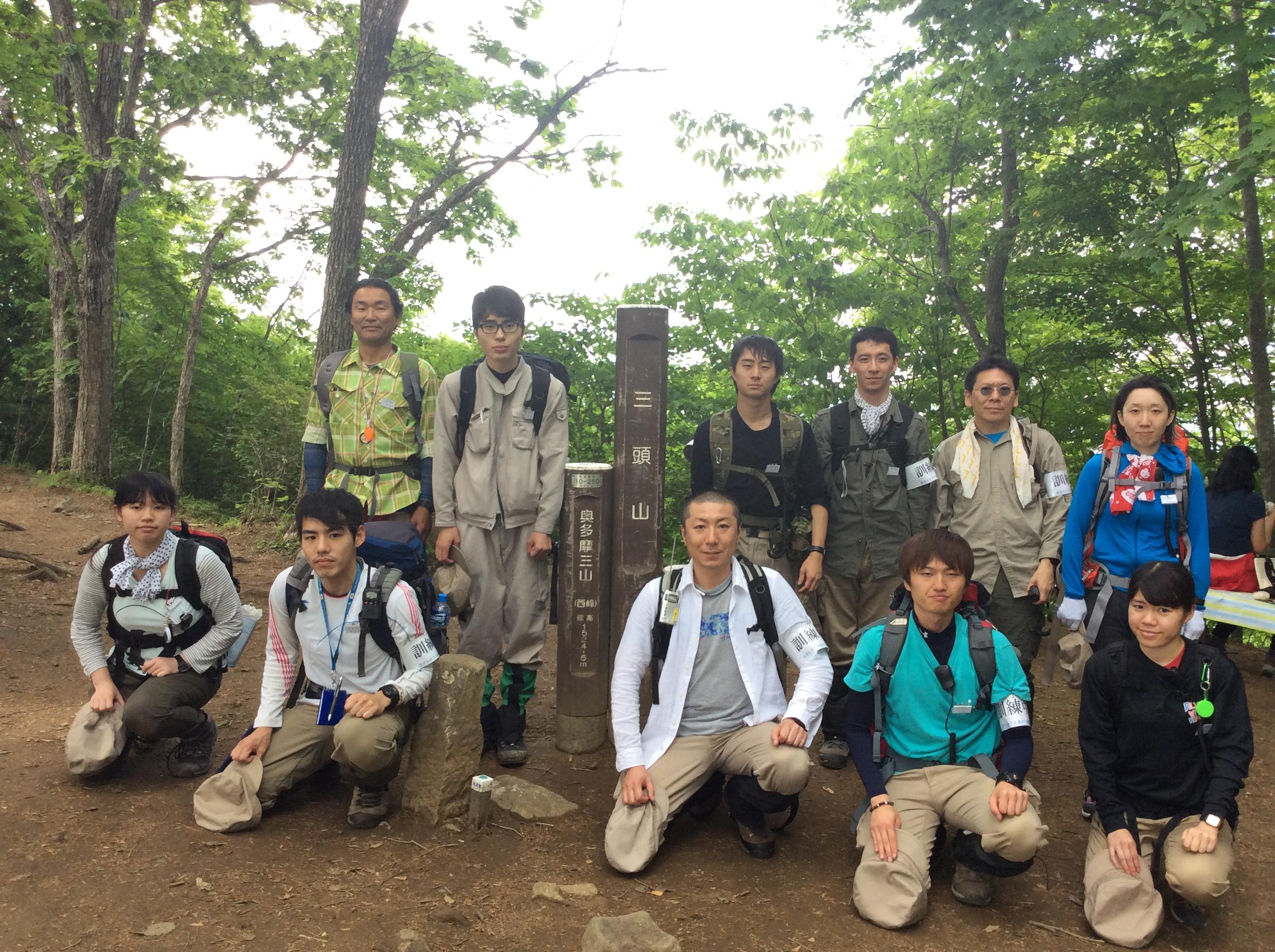 第6次隊第1回登山訓練③