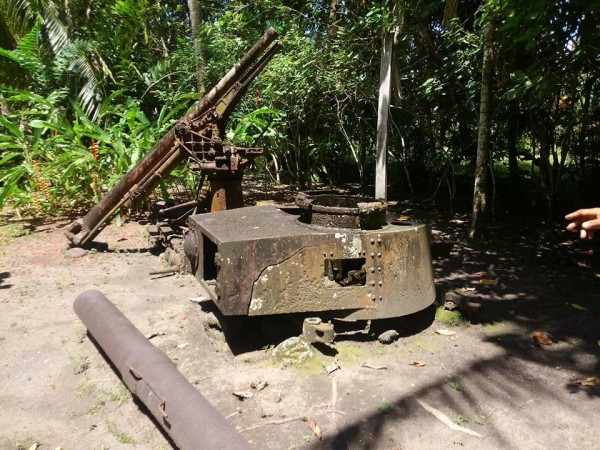 高射砲とチハ砲塔